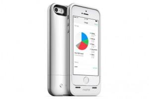 Mophie Juice Pack Helium coque avec batterie pour iPhone 5S argent